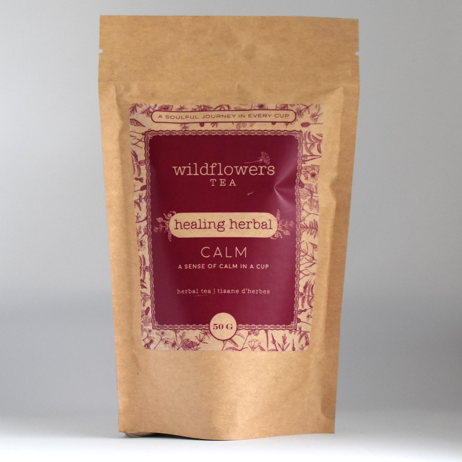 Wildflowers tea packaging design
