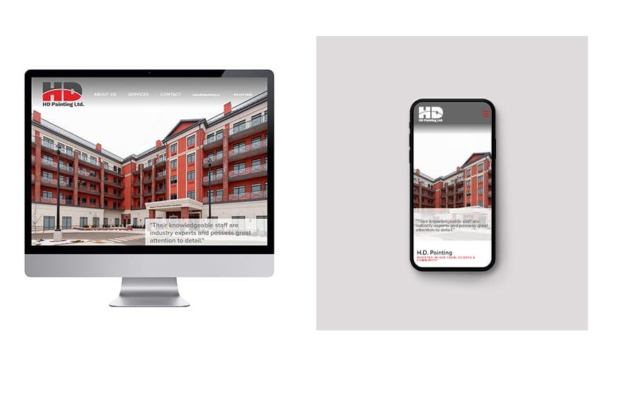 Commercial Painting rebrand - Final Website Design