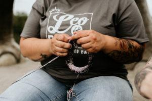 Leo and Roxy Yarn T-Shirt Branding