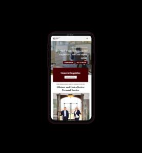Lawyers ReBrand Mobile Website Design
